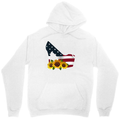 Shoe American Flag Retro Shoe Sunflower Unisex Hoodie Designed By Ashlıcar