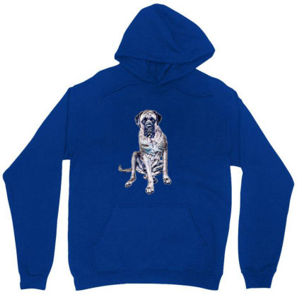 A Large English Mastiff Dog S Unisex Hoodie Designed By Kemnabi