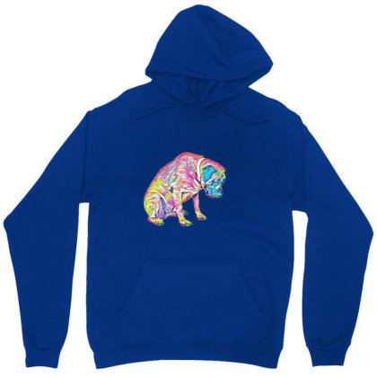 A Large Mastiff Dog Sitting A Unisex Hoodie Designed By Kemnabi