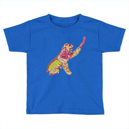 Side View Of A Pretty America Toddler T-shirt Designed By Kemnabi