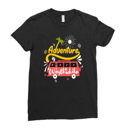 Adventure Worthwhife Ladies Fitted T-shirt Designed By Chris299