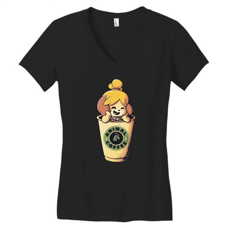 Animal Coffee Women's V-neck T-shirt   Artistshot