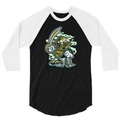 Diver 3/4 Sleeve Shirt Designed By Rulart