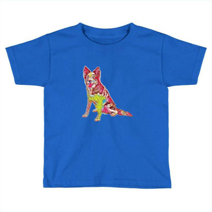 Border Collie Sitting To The Toddler T-shirt Designed By Kemnabi