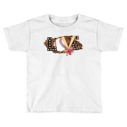 Love Baseball Toddler T-shirt Designed By Ashlıcar