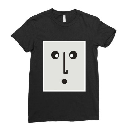 Confused Face. Ladies Fitted T-shirt Designed By Byng