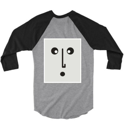 Confused Face. 3/4 Sleeve Shirt Designed By Byng