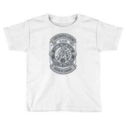Fire Fighter Legend Toddler T-shirt Designed By Rulart