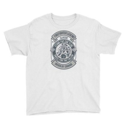 Fire Fighter Legend Youth Tee Designed By Rulart
