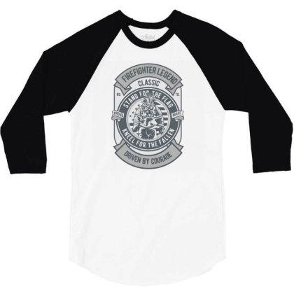Fire Fighter Legend 3/4 Sleeve Shirt Designed By Rulart