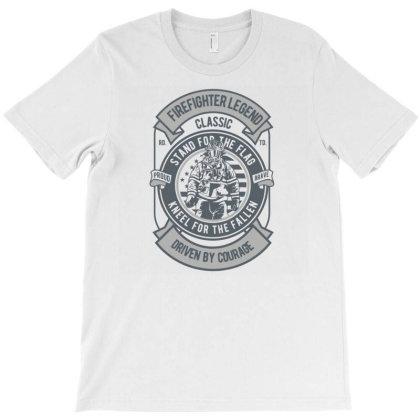 Fire Fighter Legend T-shirt Designed By Rulart