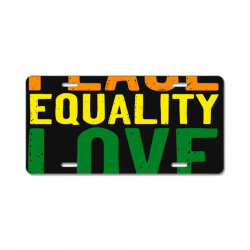 kindness peace equality love inclusion hope diversity License Plate | Artistshot