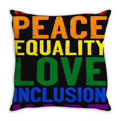kindness peace equality love inclusion hope diversity Throw Pillow | Artistshot