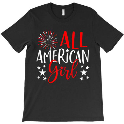 4th Of July Family Matching S All American Girl T-shirt Designed By Love Shiga