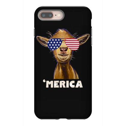 July 4th Goat Patriotic Goat Iphone 8 Plus Case Designed By Love Shiga