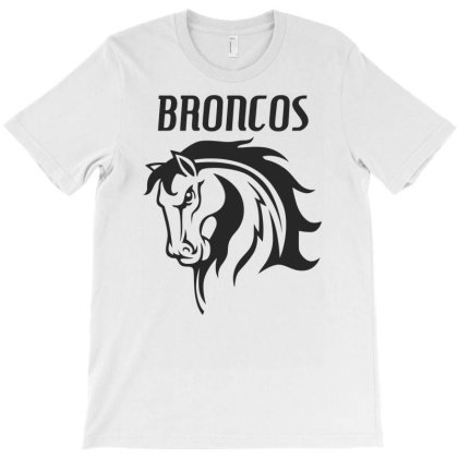 Broncos Stallion Funny Horse T-shirt Designed By Erishirt