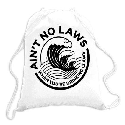Trevor Wallace White Claw For Light Drawstring Bags Designed By Pinkanzee