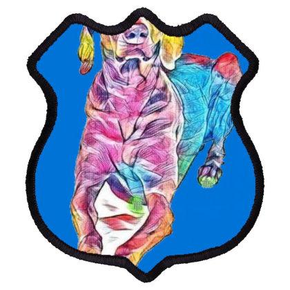 An Attentive Weimaraner Dog L Shield Patch Designed By Kemnabi