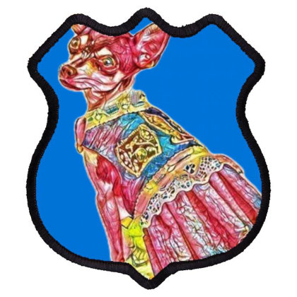 A Chihuahua Dog Is Very Styli Shield Patch Designed By Kemnabi