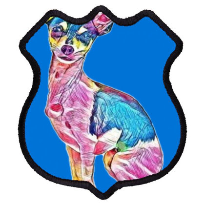 A Very Cute Chihuahua Dog Sit Shield Patch Designed By Kemnabi