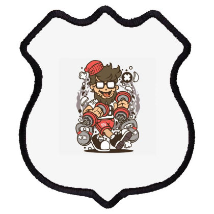 Hipster Fitness Shield Patch Designed By Rulart