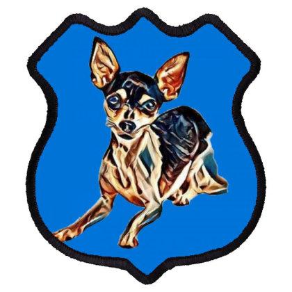 A Curious Chihuahua Dog Layin Shield Patch Designed By Kemnabi