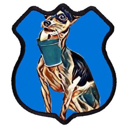 A Chihuahua Dog Sits While Ho Shield Patch Designed By Kemnabi