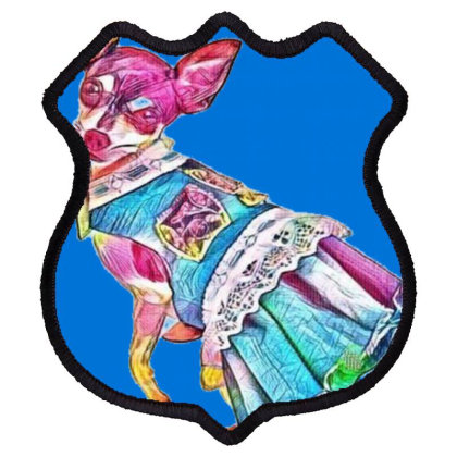 An Adorable Chihuahua Dog Wea Shield Patch Designed By Kemnabi