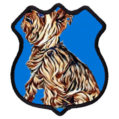 A Very Cute Yorkshire Terrier Shield Patch Designed By Kemnabi