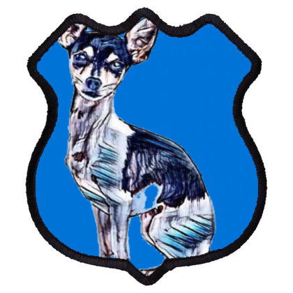 An Adorable Chihuahua Dog Sit Shield Patch Designed By Kemnabi
