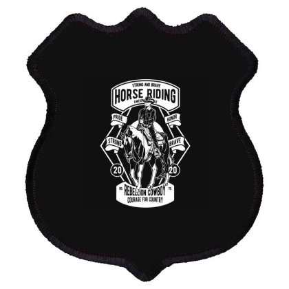 Horse Riding Shield Patch Designed By Rulart