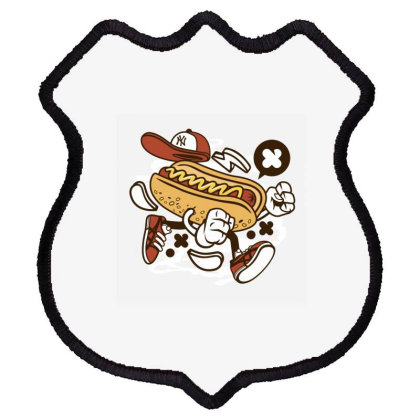 Hot Dog Shield Patch Designed By Rulart