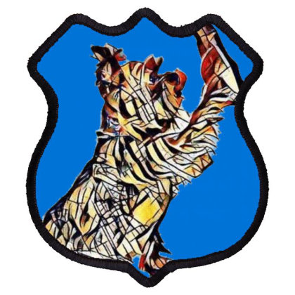 A Friendly Yorkshire Terrier Shield Patch Designed By Kemnabi