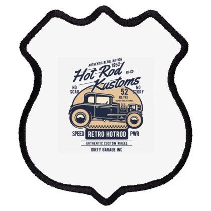 Hot Rod Kustom Shield Patch Designed By Rulart
