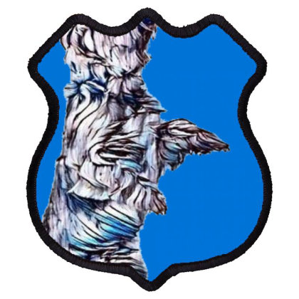 A Talented Yorkshire Terrier Shield Patch Designed By Kemnabi