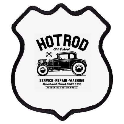 Hot Rod Old School Shield Patch Designed By Rulart