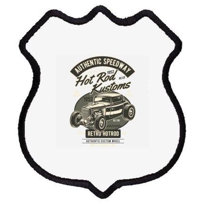 Hot Rod Kustoms Speedway Shield Patch Designed By Rulart
