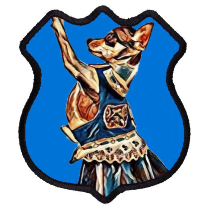 A Cute Chihuahua Dog Dressed Shield Patch Designed By Kemnabi