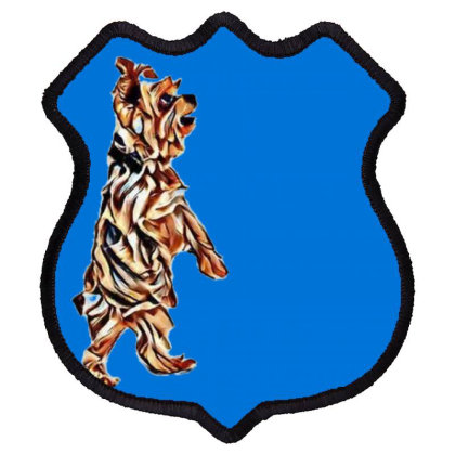An Adorable Yorkshire Terrier Shield Patch Designed By Kemnabi