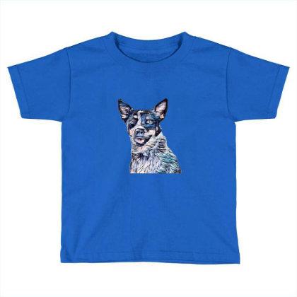 Head Shot Of An Australian Ca Toddler T-shirt Designed By Kemnabi