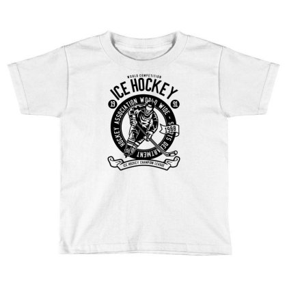 Ice Hockey Toddler T-shirt Designed By Rulart