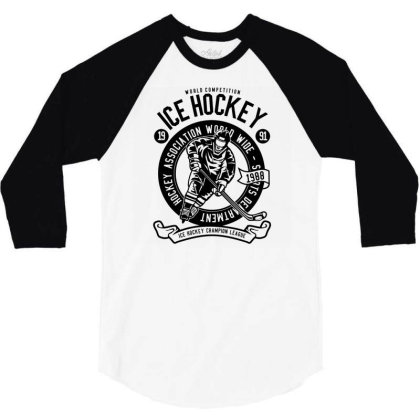 Ice Hockey 3/4 Sleeve Shirt Designed By Rulart