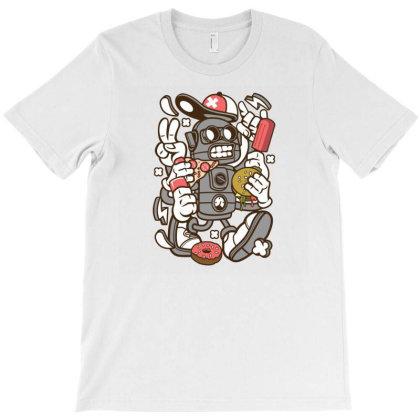 Junk Food Robot T-shirt Designed By Rulart