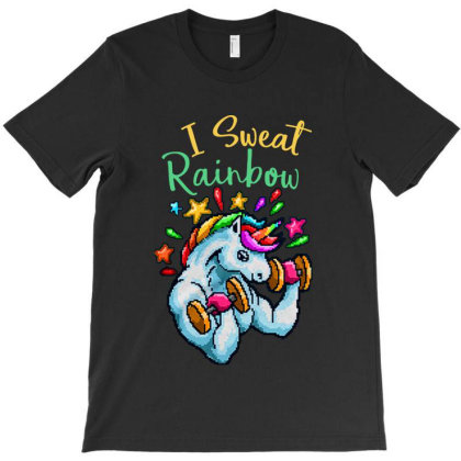 I Sweat Rainbow T-shirt Designed By Diamond Tees