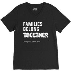family belong together V-Neck Tee | Artistshot