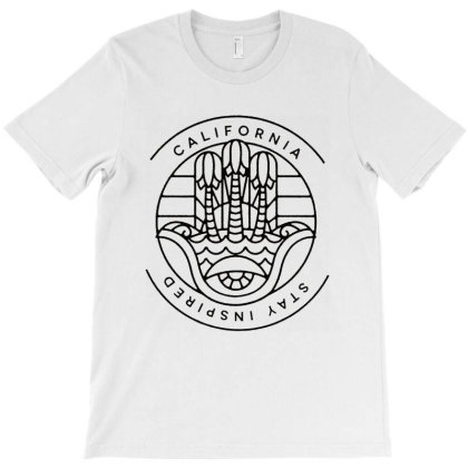 California Stay Inspired T-shirt Designed By Diamond Tees