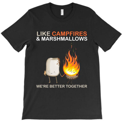 Campfires And Marshmallows T-shirt Designed By Hoainv