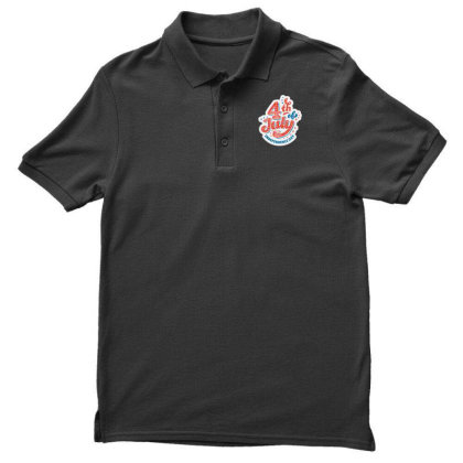 4th Of July Independence Day Men's Polo Shirt Designed By D'metra
