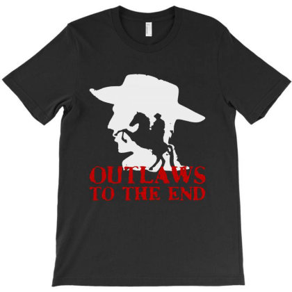 Red Dead , White Moon Cowboy T-shirt Designed By Diamond Tees