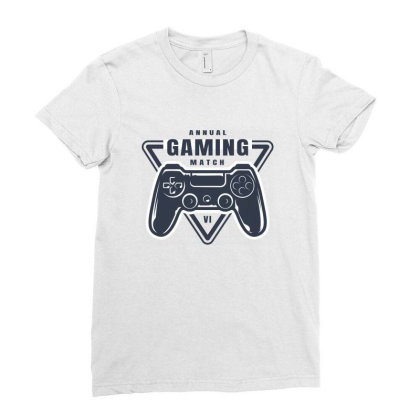 Annual Gaming Match Ladies Fitted T-shirt Designed By Estore